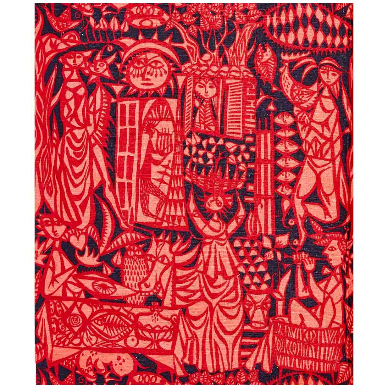 """Comedia"" Textile by Stig Lindberg"