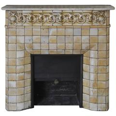 1900s Art Nouveau Fireplace Attributed to Gentil and Bourdet Manufacture