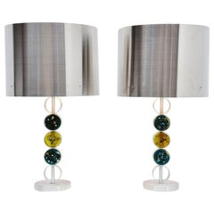 RAAK Table Lamps Monumental Sized Holland, 1972