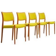Niels Moller Model 80 Chairs in Oak, Denmark, 1968