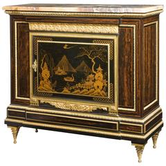 Antique Lacquered Chinoiserie Side Cabinet