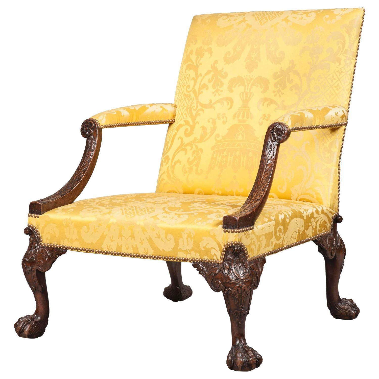 Antique Gainsborough Library Armchair For Sale At 1stdibs