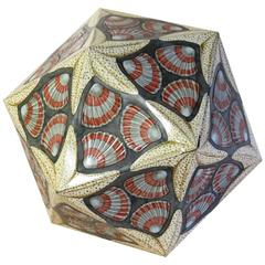 M.C. Escher, Tin Box Icosaeder, Decorated with Starfish and Seashells, 1963