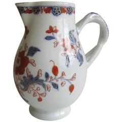 18th Century Chinese Porcelain Milk Jug Gilded Imari Pattern, Qing Ca. 1730