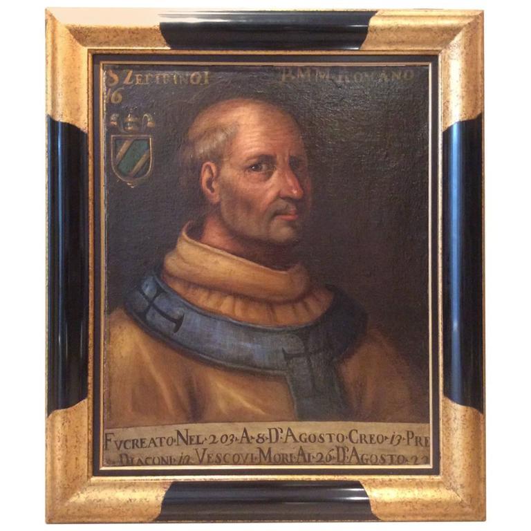 Early 17th Century Italian School Portrait of a Clergyman, Modern Frame