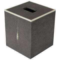Gray Shagreen Tissue Box