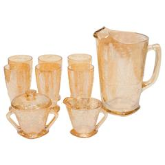1950s Pitcher and Glass Set