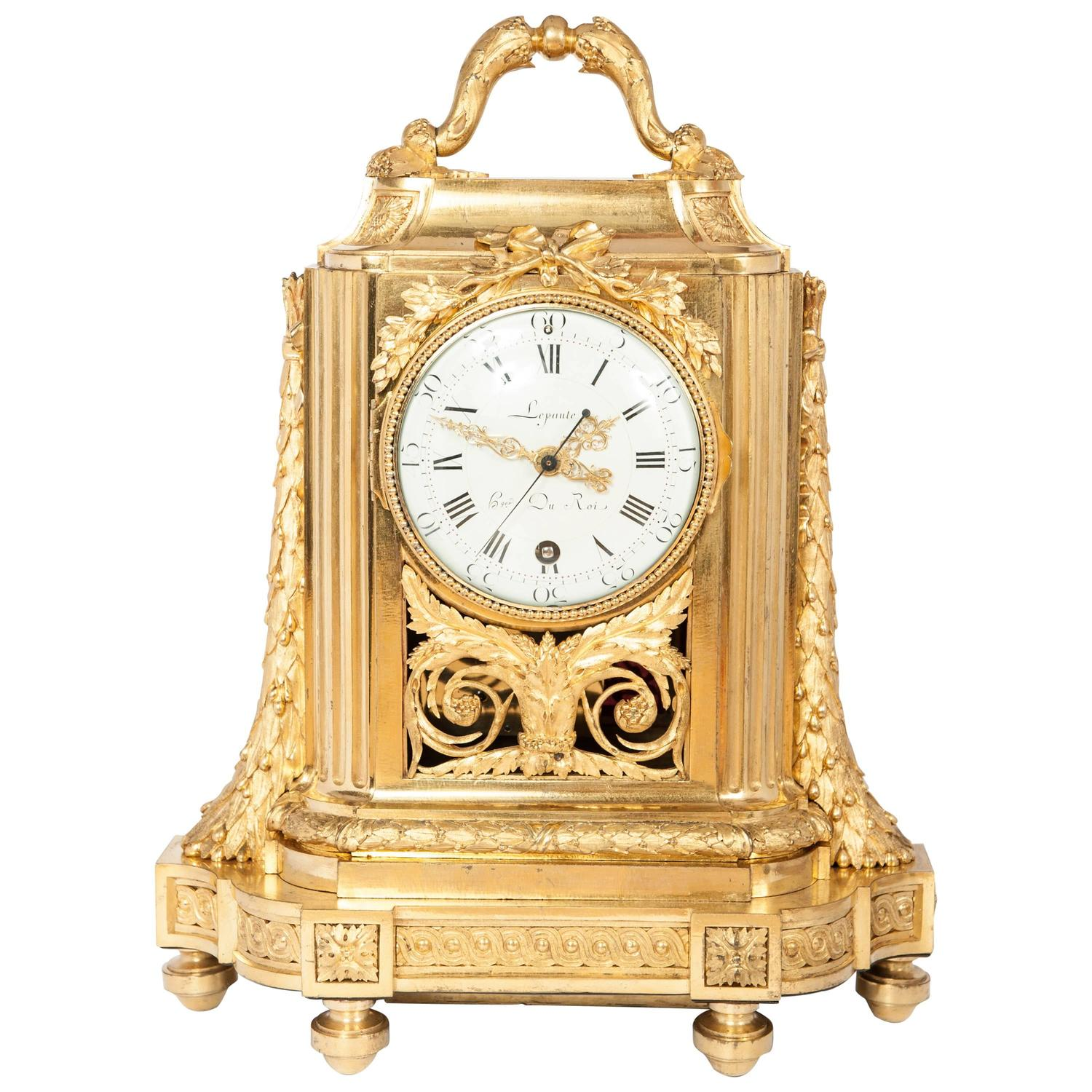 Very unusual high quality early louis xvi traveling clock Unusual clocks for sale