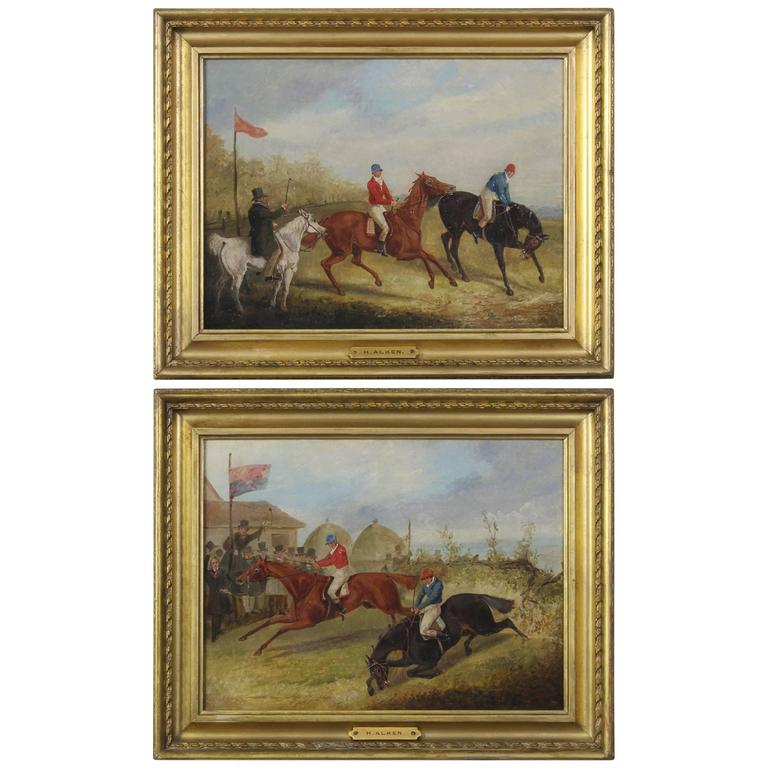 Pair of Early 19th Century English Sporting Paintings by Henry Alken