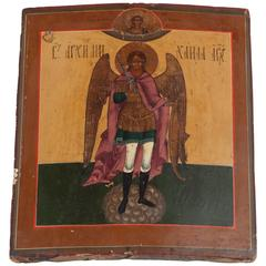 19th Century Russian Icon of Archangel Gabriel