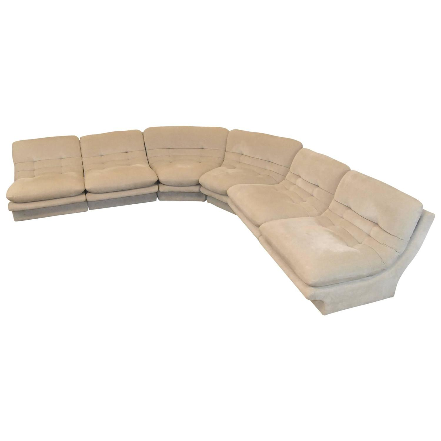 Dove grey six piece sectional sofa designed by vladimir for Dove grey sectional sofa