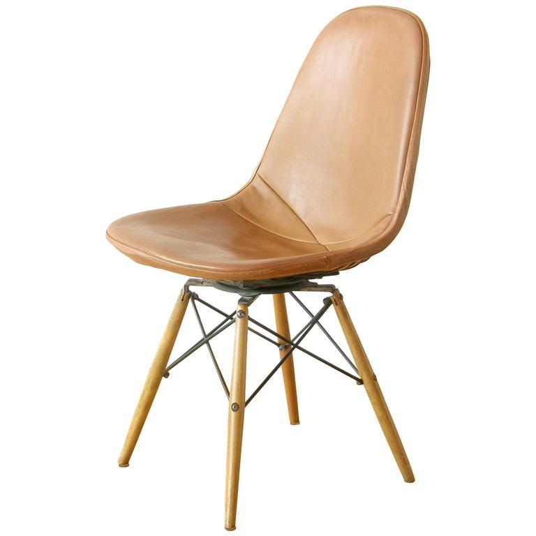 Eames Dowel Leg Swivel Chair At 1stdibs