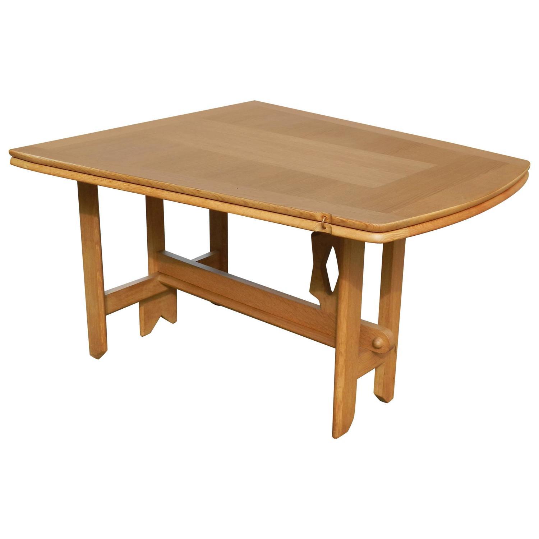 guillerme and chambron oak table model portefeuille edition votre maison for sale at 1stdibs. Black Bedroom Furniture Sets. Home Design Ideas