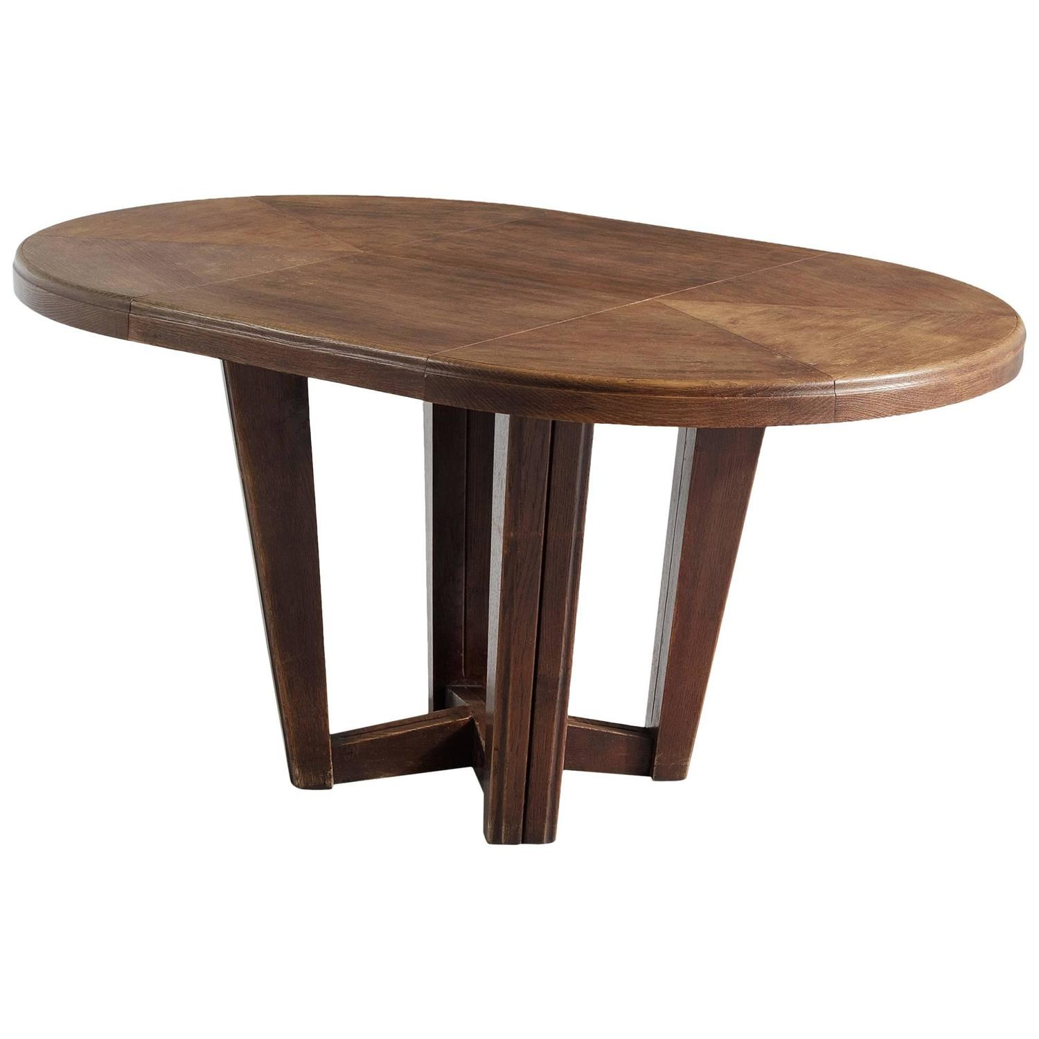 Oval Dining Room Table: Small Oval Dining Table In Solid Oak For Sale At 1stdibs