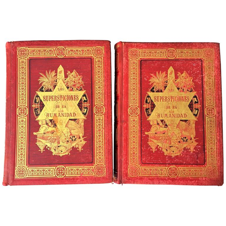 """19th Century Masterpiece BIG Book """"The Superstitions of Humanity"""""""