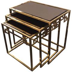 Italian Brass Nesting Tables