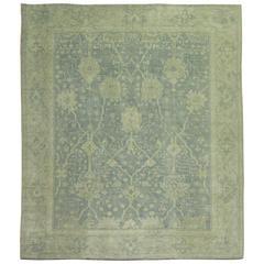 Neutral Color Antique Turkish Oushak Carpet