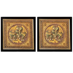 Early 20th Century Indonesian 3-D Framed Textiles, Pair