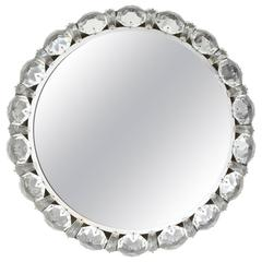 Palwa Backlit Mirror, Nickel and Crystal, 1950s