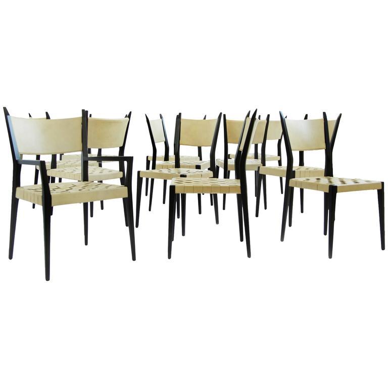 Set of Twelve Paul McCobb Dining Chairs