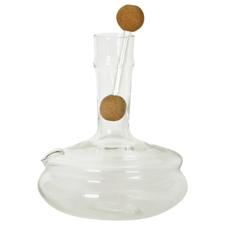 Dr. Peter Schlumbohm for Chemex Glass Water Kettle with Cork Balls Stopper For Sale