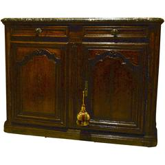 Louis XIV Walnut Buffet, circa Late 17th Century with Dropped Sink