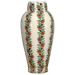 Art Deco Flower Vase by Boch Freres Belgium