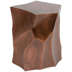 Bamboo Shaven Side Table, Antique Copper, Limited Edition