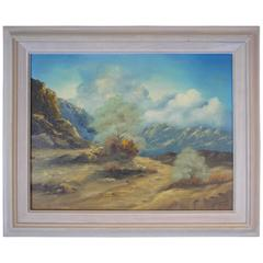 Original Signed Oil of a Mountain Landscape by George Jones