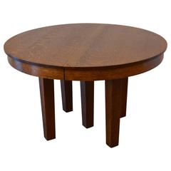 L&JG Stickley Round Dining Table