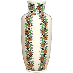 Art Deco Flower Vase by Boch Freres Keramis