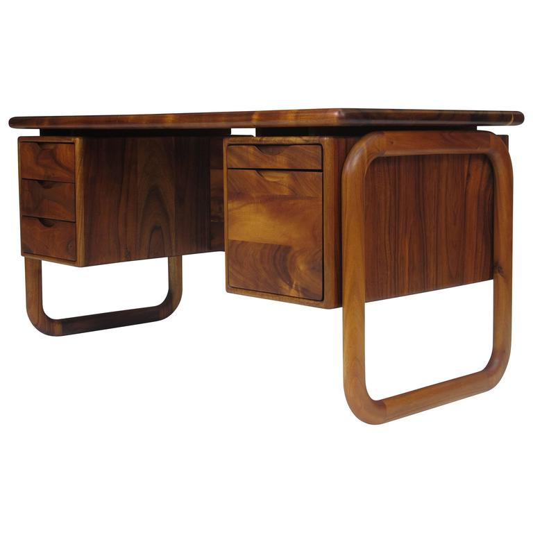 California Studio Handcrafted Koa Desk