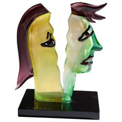 Murano Glass Art Sculpture after Picasso