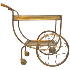 Mid-Century Brass Tea Trolley by Svenskt Tenn, Sweden, 1950s