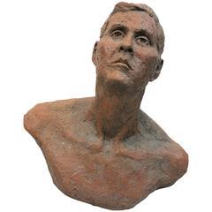 Mid-Century Terra Cotta Bust