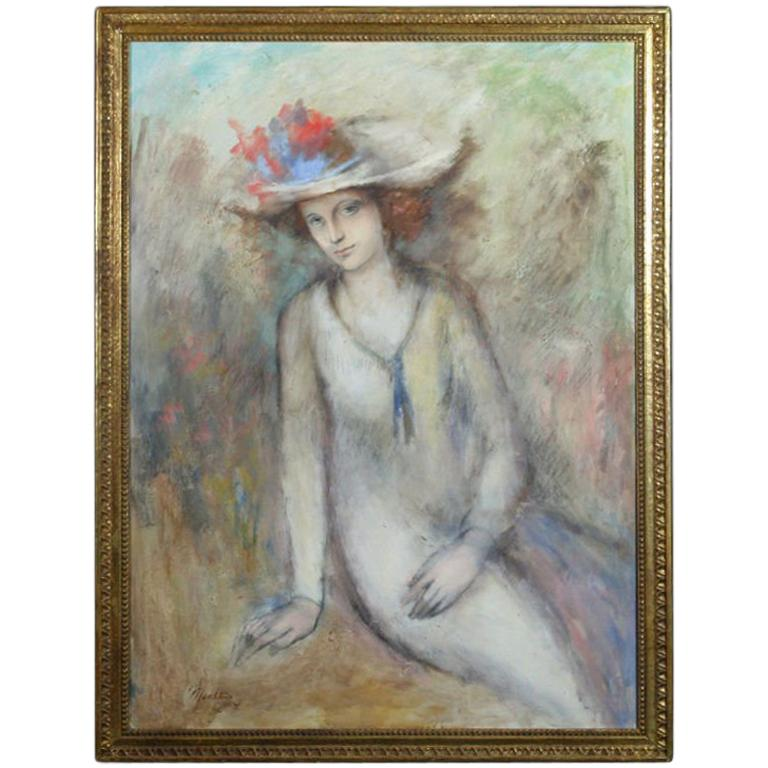 Seated Lady in Hat