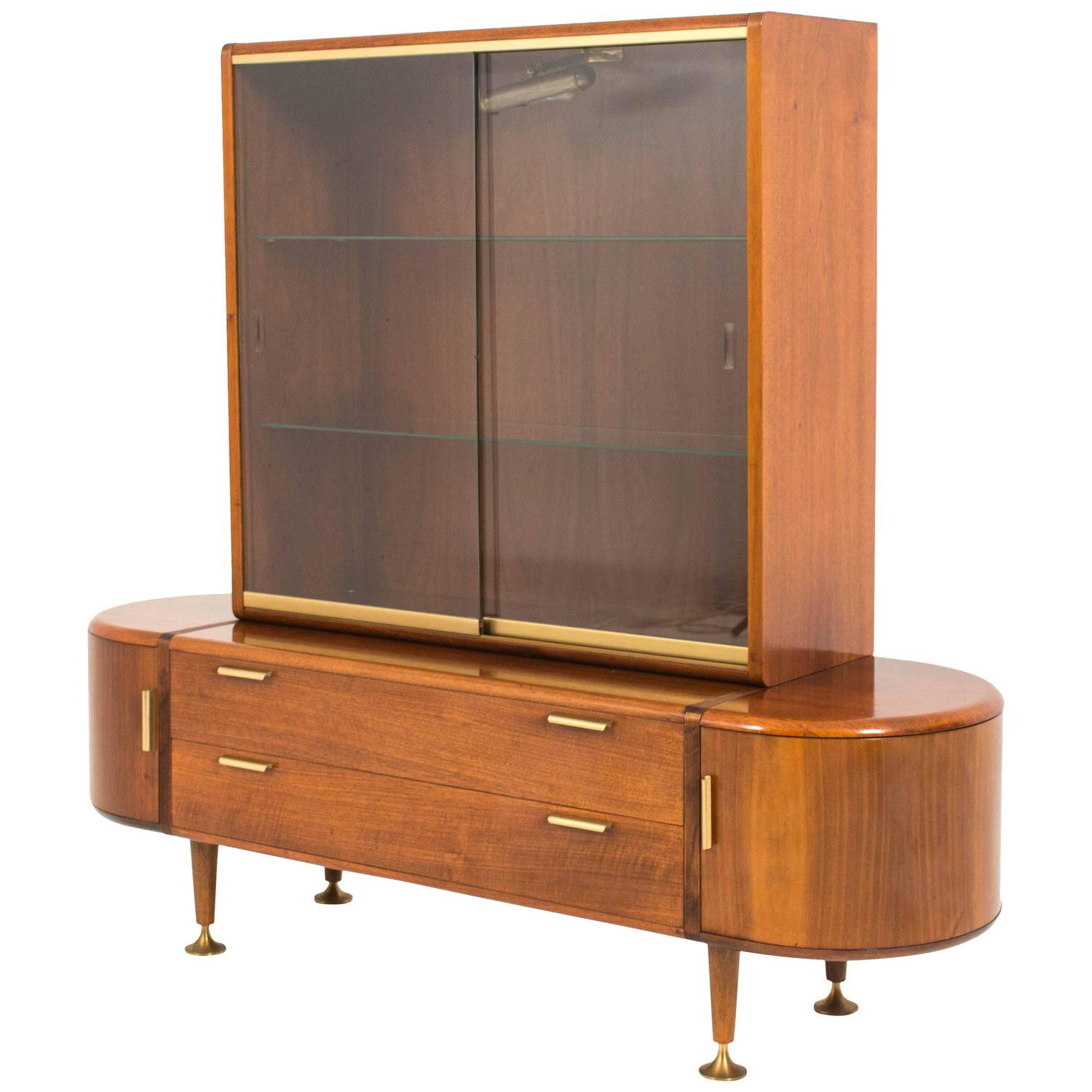 stunning mid century modern vitrine by a a patijn for poly z for sale at 1stdibs. Black Bedroom Furniture Sets. Home Design Ideas