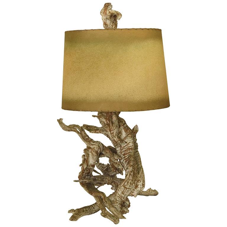 driftwood lamp 1950s for sale at 1stdibs. Black Bedroom Furniture Sets. Home Design Ideas