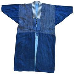 Japanese Boro Denim Farmer's Jacket Kimono