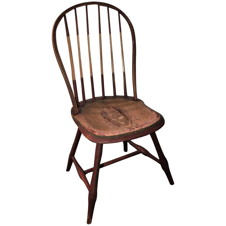 19th Century Original Painted Windsor Chair