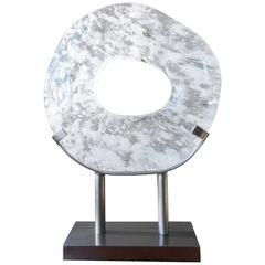 Zong Bi Sculpture on Steel Stand by Robert Kuo, Limited Edition