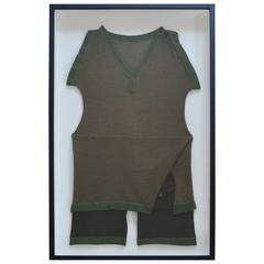 Vintage Wool Swimsuit for Men Framed for Wall Display