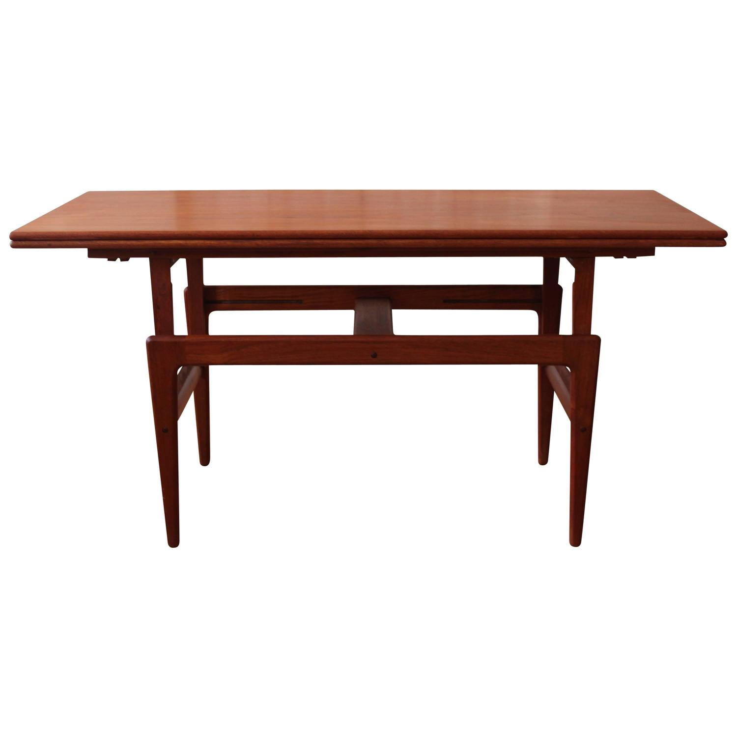 Kai Kristiansen Teak Elevator Table at 1stdibs
