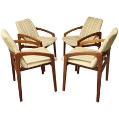 Four Danish Teak Kai Kristiansen Dining Chairs