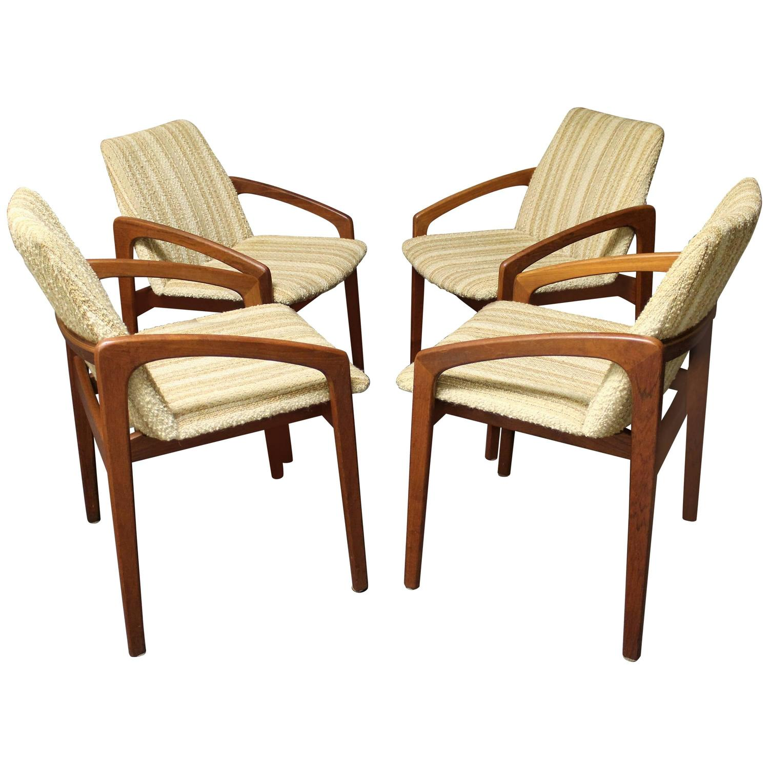 Four Danish Teak Kai Kristiansen Dining Chairs For Sale At