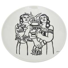 After Fernand Leger Porcelain Plate