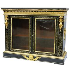 Buffet in Louis XIV Style Boulle Marquetry and Gilded Bronze, circa 1780-1800