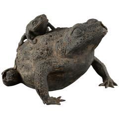 Bronze Toad Fragment