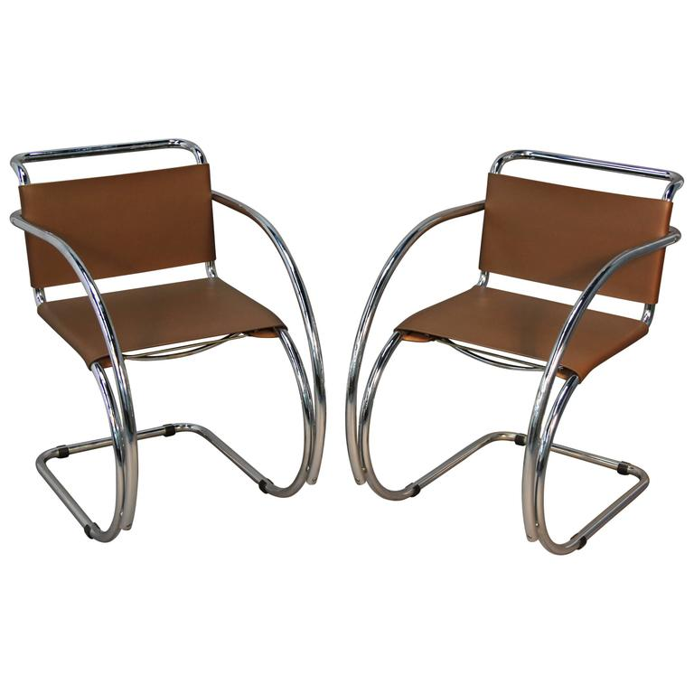 Ludwig Mies van der Rohe Mr20 armchairs, ca. 2000 reissue, offered by Fairfield County Antique & Design Center