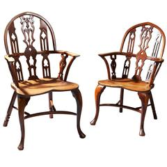 Pair of Gothic 19th Century Windsor Chairs